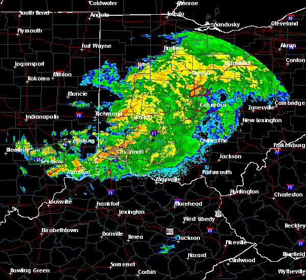 Radar Image for Severe Thunderstorms near Dayton, OH at 6/15/2019 11:18 PM EDT