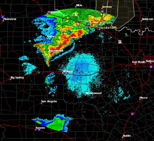 Radar Image for Severe Thunderstorms near Rochester, TX at 6/15/2019 11:00 PM CDT