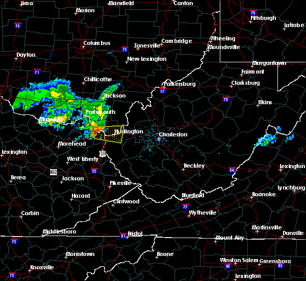 Radar Image for Severe Thunderstorms near Huntington, WV at 6/16/2019 1:30 PM EDT