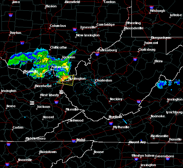 Radar Image for Severe Thunderstorms near Huntington, WV at 6/16/2019 1:43 PM EDT