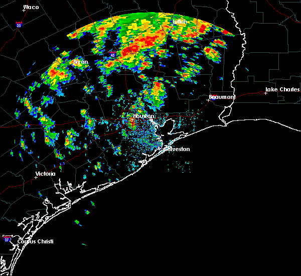 Radar Image for Severe Thunderstorms near Crockett, TX at 6/16/2019 1:10 PM CDT