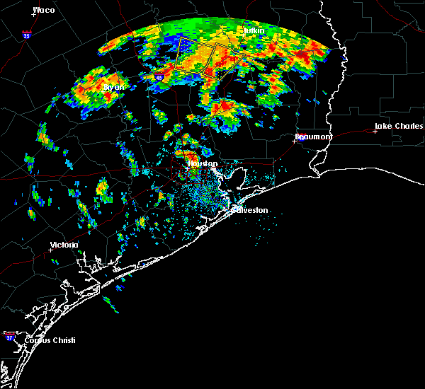 Radar Image for Severe Thunderstorms near Crockett, TX at 6/16/2019 1:30 PM CDT