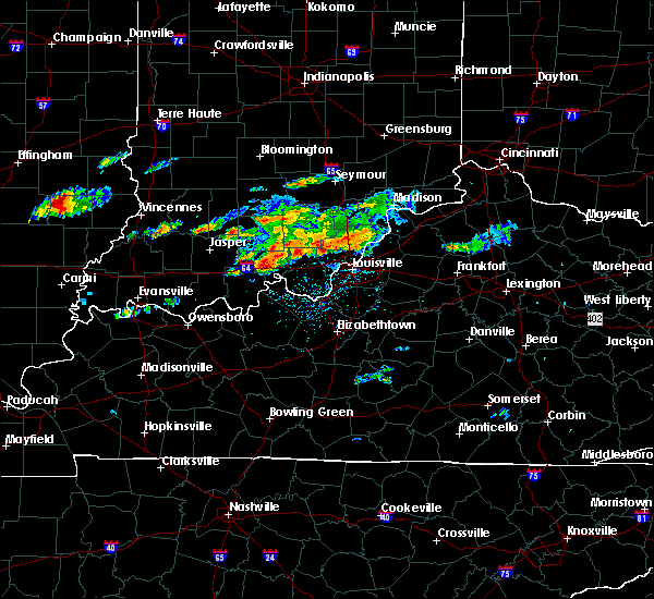 Radar Image for Severe Thunderstorms near Henryville, IN at 6/16/2019 3:53 PM EDT