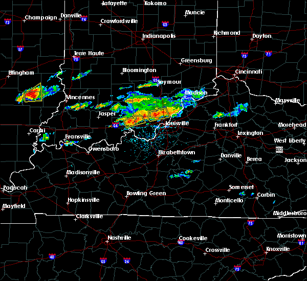 Radar Image for Severe Thunderstorms near Henryville, IN at 6/16/2019 4:04 PM EDT