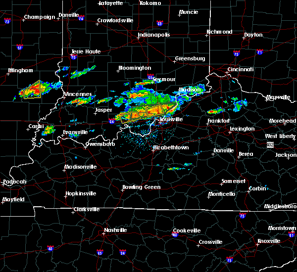 Radar Image for Severe Thunderstorms near Henryville, IN at 6/16/2019 4:13 PM EDT