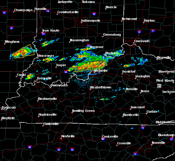 Radar Image for Severe Thunderstorms near Utica, KY at 6/16/2019 4:19 PM EDT