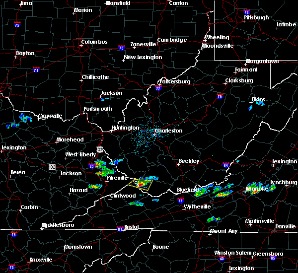 Radar Image for Severe Thunderstorms near Iaeger, WV at 6/16/2019 4:46 PM EDT