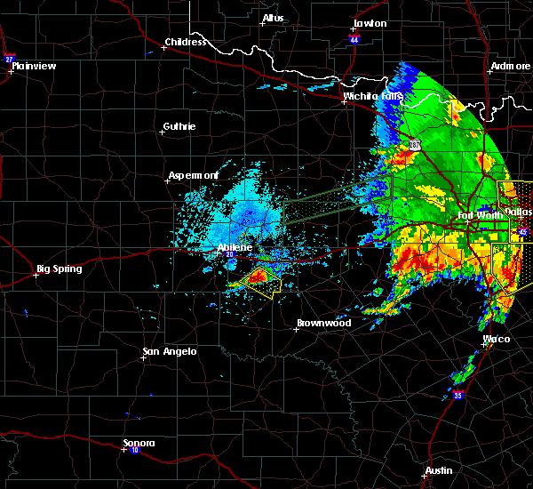 Radar Image for Severe Thunderstorms near Cross Plains, TX at 6/16/2019 4:20 PM CDT