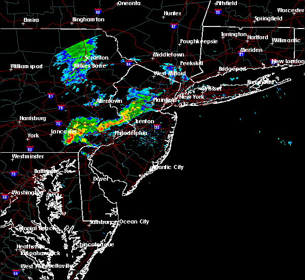 Radar Image for Severe Thunderstorms near Christiana, PA at 6/16/2019 5:42 PM EDT