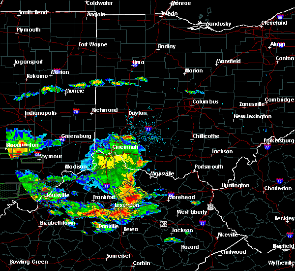 Radar Image for Severe Thunderstorms near Cynthiana, KY at 6/16/2019 6:25 PM EDT
