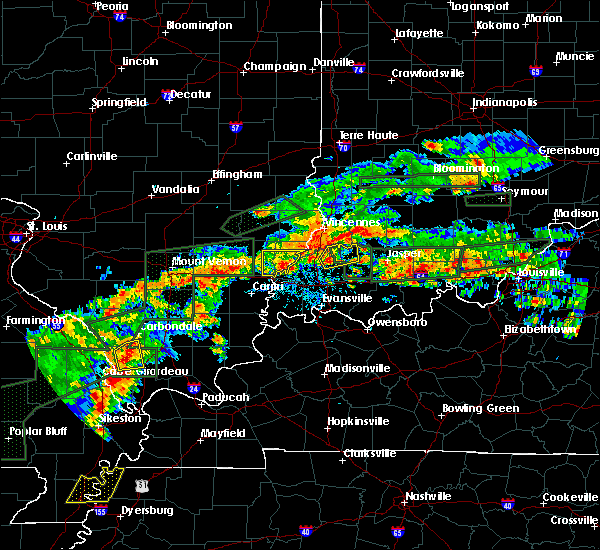 Radar Image for Severe Thunderstorms near Petersburg, IN at 6/16/2019 6:32 PM EDT