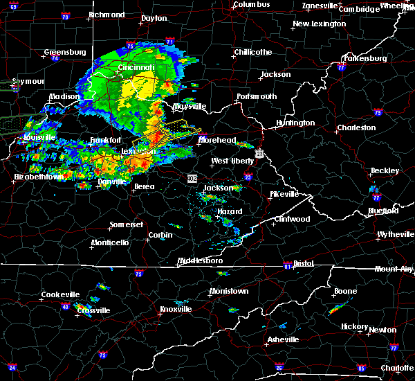 Radar Image for Severe Thunderstorms near Elizaville, KY at 6/16/2019 6:42 PM EDT