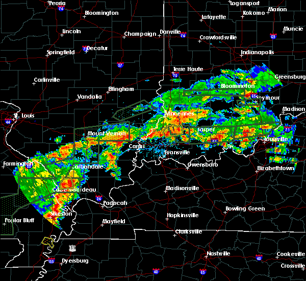 Radar Image for Severe Thunderstorms near Petersburg, IN at 6/16/2019 6:52 PM EDT