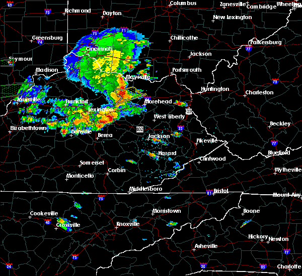 Radar Image for Severe Thunderstorms near Aberdeen, OH at 6/16/2019 6:53 PM EDT