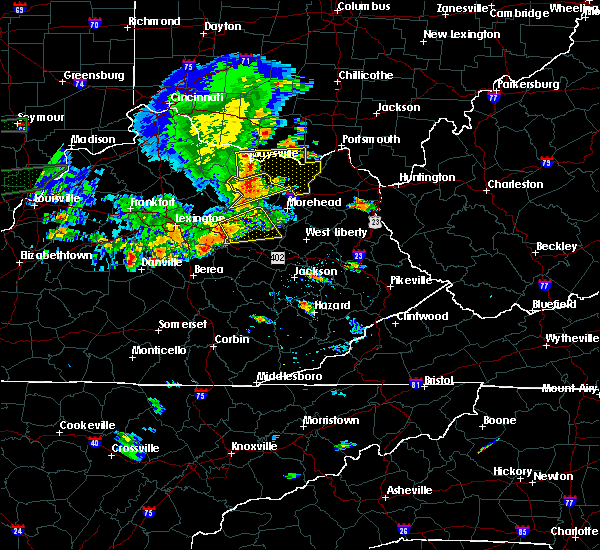 Radar Image for Severe Thunderstorms near Jeffersonville, KY at 6/16/2019 6:59 PM EDT