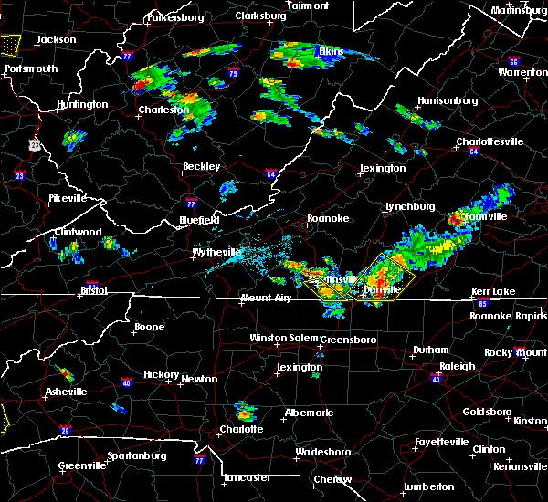 Radar Image for Severe Thunderstorms near Chatmoss, VA at 6/17/2015 7:23 PM EDT