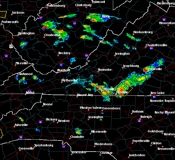 Radar Image for Severe Thunderstorms near Martinsville, VA at 6/17/2015 7:23 PM EDT