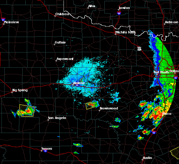 Radar Image for Severe Thunderstorms near Lake Brownwood, TX at 6/16/2019 6:08 PM CDT