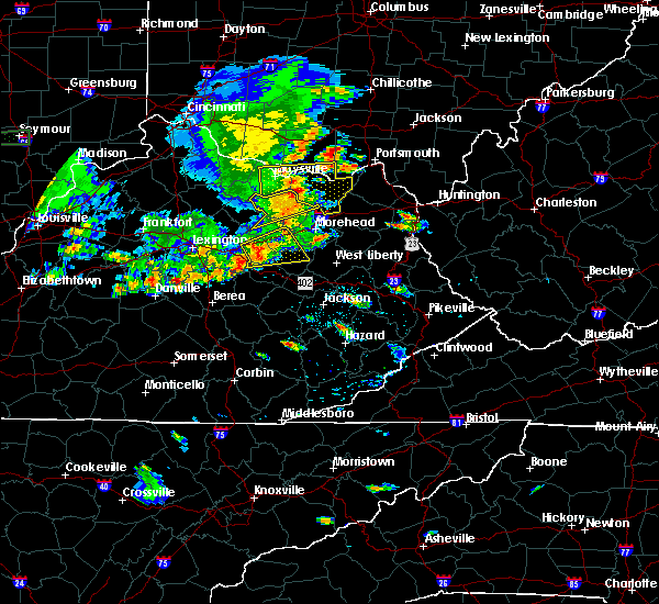 Radar Image for Severe Thunderstorms near Elizaville, KY at 6/16/2019 7:09 PM EDT