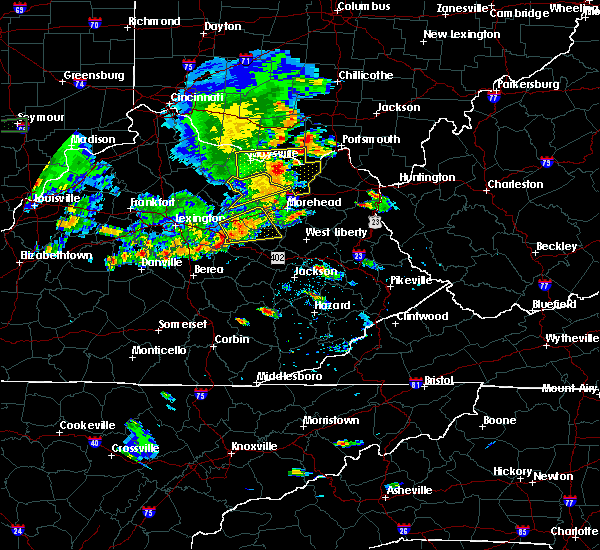 Radar Image for Severe Thunderstorms near Jeffersonville, KY at 6/16/2019 7:13 PM EDT
