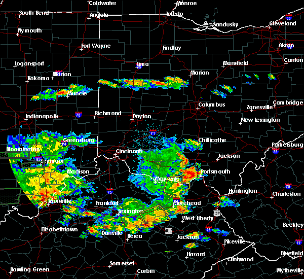 Radar Image for Severe Thunderstorms near Otway, OH at 6/16/2019 7:32 PM EDT