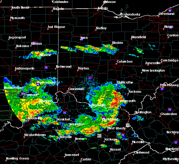 Radar Image for Severe Thunderstorms near Otway, OH at 6/16/2019 7:52 PM EDT