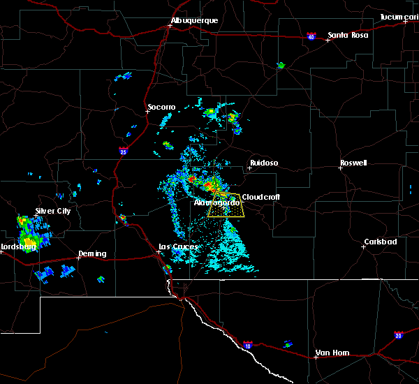 Radar Image For Severe Thunderstorms Near Tularosa NM At 6 17 2015 5