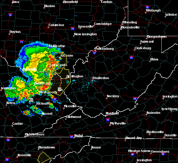 Radar Image for Severe Thunderstorms near Huntington, WV at 6/16/2019 8:03 PM EDT