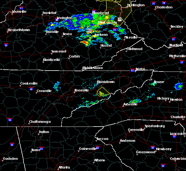 Radar Image for Severe Thunderstorms near Newport, TN at 6/16/2019 8:13 PM EDT