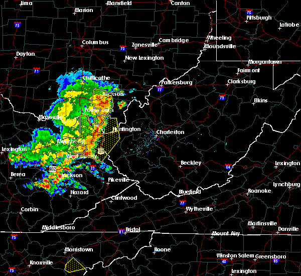 Radar Image for Severe Thunderstorms near Huntington, WV at 6/16/2019 8:25 PM EDT
