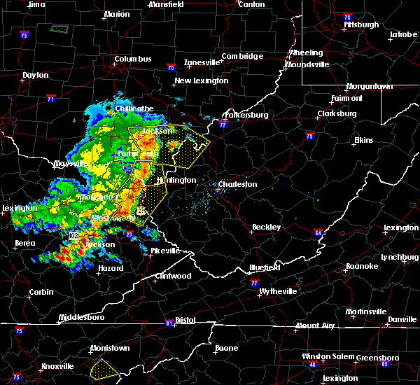 Radar Image for Severe Thunderstorms near Gallipolis, OH at 6/16/2019 8:32 PM EDT