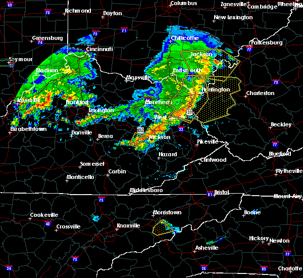 Radar Image for Severe Thunderstorms near Booneville, KY at 6/16/2019 8:45 PM EDT