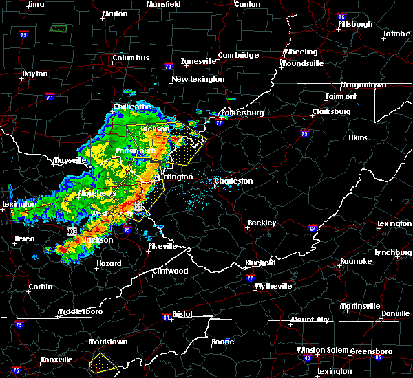 Radar Image for Severe Thunderstorms near Huntington, WV at 6/16/2019 8:46 PM EDT
