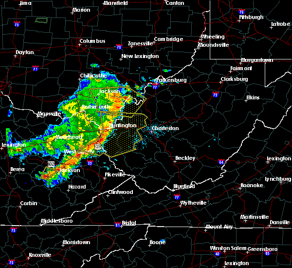 Radar Image for Severe Thunderstorms near Gallipolis, OH at 6/16/2019 8:50 PM EDT