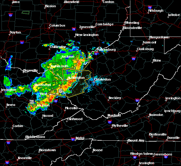 Radar Image for Severe Thunderstorms near Huntington, WV at 6/16/2019 9:09 PM EDT