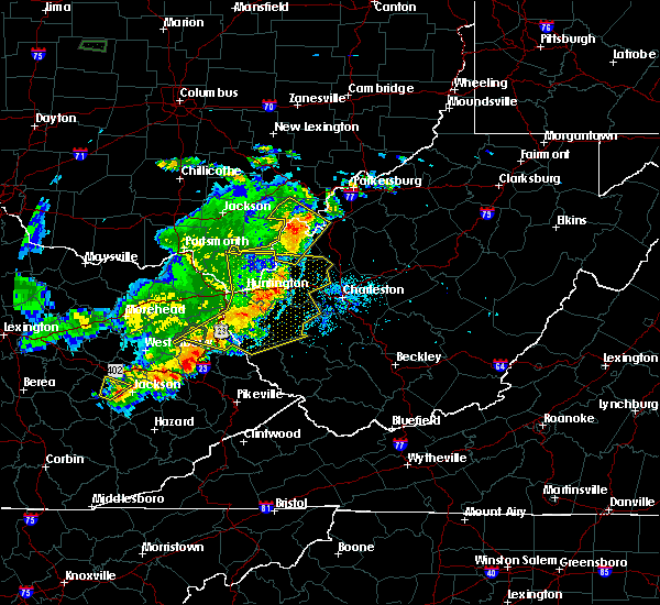 Radar Image for Severe Thunderstorms near Gallipolis, OH at 6/16/2019 9:10 PM EDT