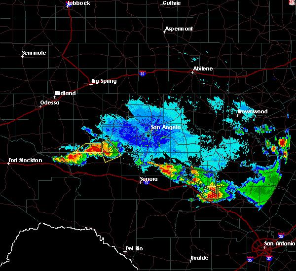 Radar Image for Severe Thunderstorms near Big Lake, TX at 6/16/2019 9:34 PM CDT