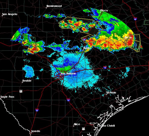 Radar Image for Severe Thunderstorms near Ingram, TX at 6/16/2019 9:41 PM CDT
