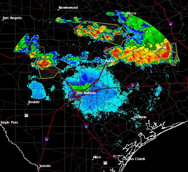 Radar Image for Severe Thunderstorms near Ingram, TX at 6/16/2019 9:50 PM CDT