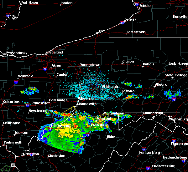 Radar Image for Severe Thunderstorms near Sardis, OH at 6/16/2019 11:03 PM EDT
