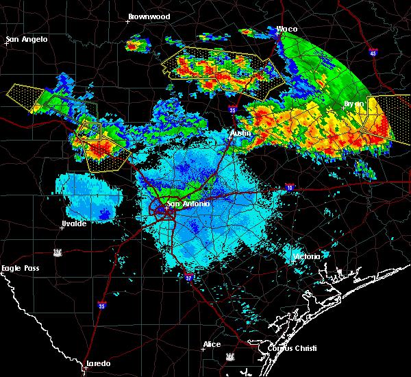 Radar Image for Severe Thunderstorms near Ingram, TX at 6/16/2019 10:08 PM CDT