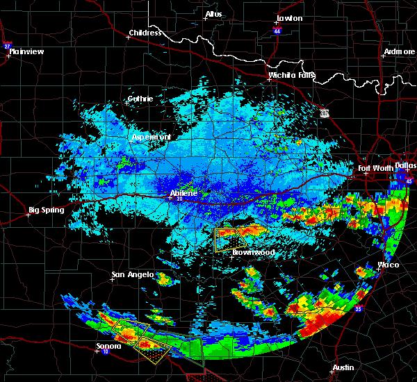 Radar Image for Severe Thunderstorms near Lake Brownwood, TX at 6/16/2019 10:34 PM CDT