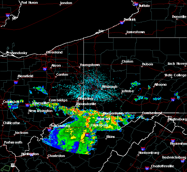 Radar Image for Severe Thunderstorms near Hannibal, OH at 6/16/2019 11:39 PM EDT