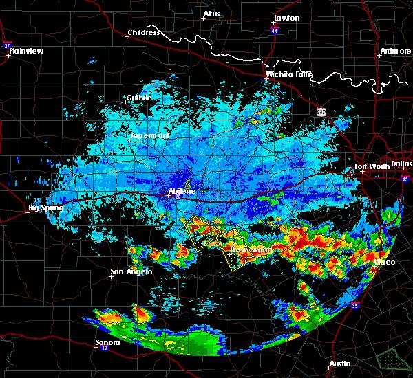 Radar Image for Severe Thunderstorms near Goldthwaite, TX at 6/16/2019 11:49 PM CDT