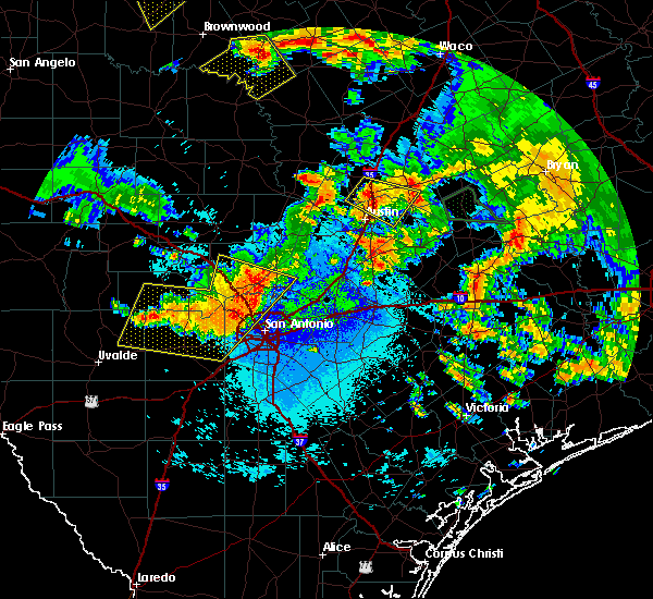 Radar Image for Severe Thunderstorms near Lakehills, TX at 6/17/2019 12:19 AM CDT