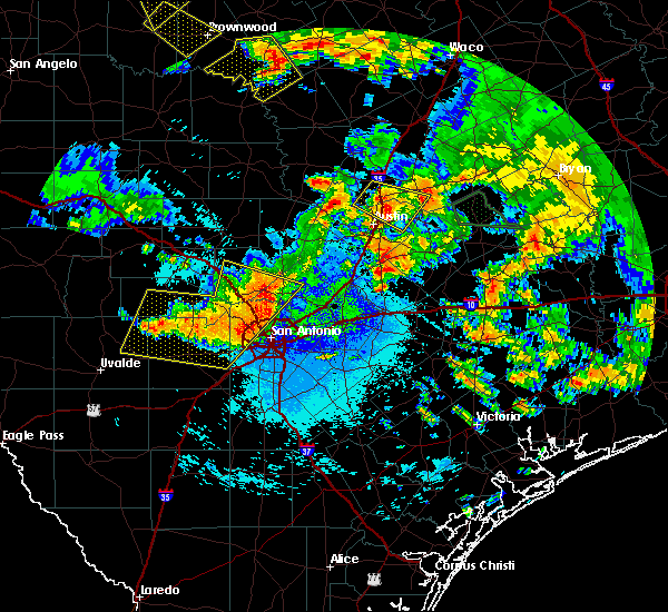 Radar Image for Severe Thunderstorms near Lakehills, TX at 6/17/2019 12:30 AM CDT