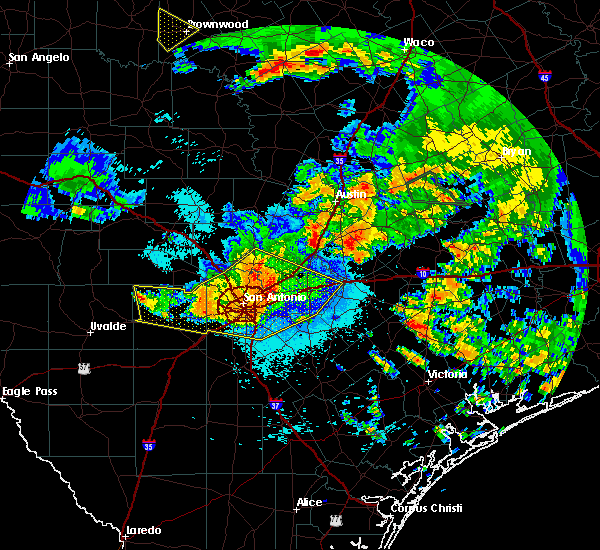 Radar Image for Severe Thunderstorms near Alamo Heights, TX at 6/17/2019 12:53 AM CDT