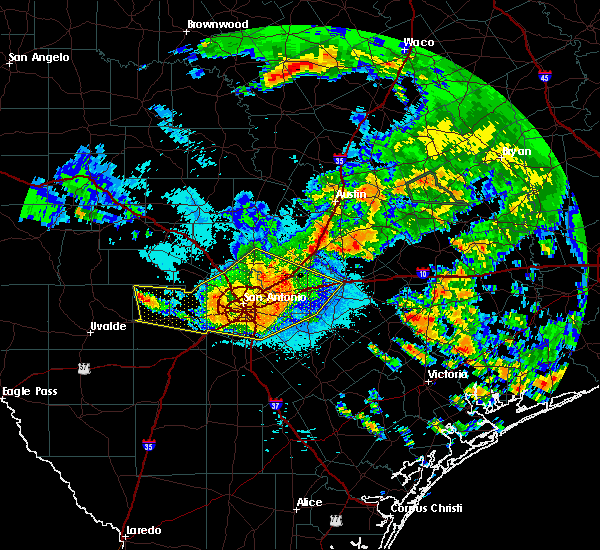 Radar Image for Severe Thunderstorms near Cibolo, TX at 6/17/2019 1:04 AM CDT