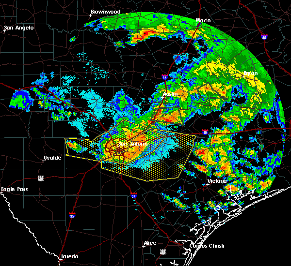 Radar Image for Severe Thunderstorms near Cibolo, TX at 6/17/2019 1:18 AM CDT