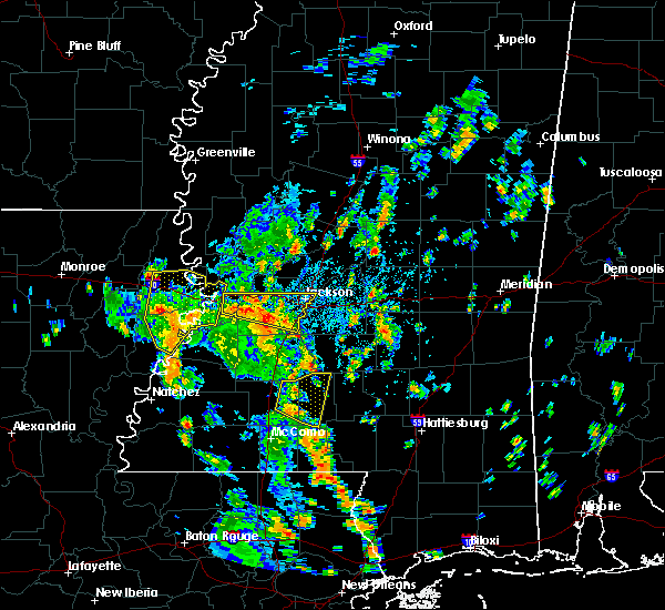 Radar Image for Severe Thunderstorms near Monticello, MS at 6/17/2019 1:52 PM CDT